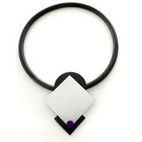 Halsband i aluminium och gummi, ALU011